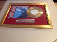 Rod Stewart 'Every Beat of my Heart' 24ct gold plated disc. limited edition No 62 of 500