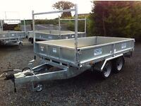 Dale Kane 8 x 5 trailer flatbed dropsides fully type approved