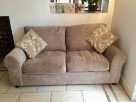 2 Seater grey sofa in excellent condition