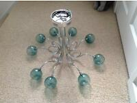 Teal glass bobble ceiling light