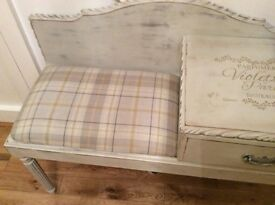 Shabby chic hall/telephone seat and unit