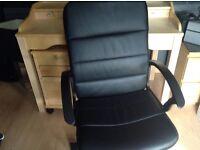 Ikea desk, pedestal and chair - beech colour