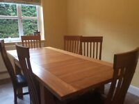 Table and chairsSolid Oak