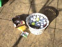 Golf Balls and Tee Pegs - around 5 or 6 Dozen