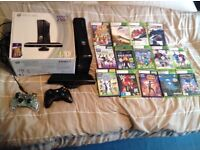XBOX 360 with KINECT+Games and Controllers
