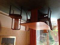 G Plan Teak Herringbone Design Dining Table and 4 Chairs