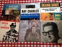 100 assorted vinyl LPs