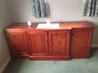 Ducal rosewood solid pine sideboard