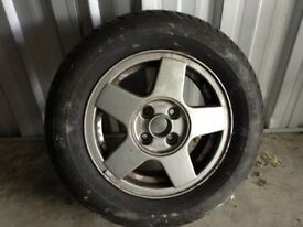 Volvo alloy wheel with a brand new tyre