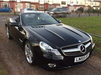 MERCEDES SL350 AUTOMATIC 59-REG BLACK/
