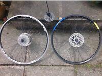 Pair of mtb wheels.
