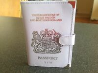 New Passport holder with inscribed initials S J M real leather