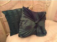 Teal Cushion x2 40x40cm