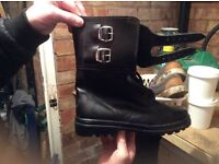Mens leather army boots new