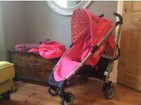 Cosatto yo pink stroller buggy