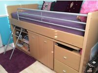 Mid sleeper bed perfect for kids, teens or adults