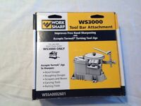 Worksharp 3000 tool bar attachment with Tormek SVS - 50 Multi Jig