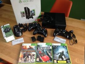 Xbox 360 Console, Controllers, Charge Dock, Games