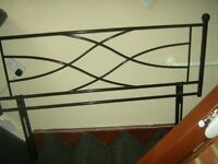 Black Metal Double Headboard