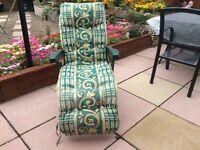 Adjustable garden lounger