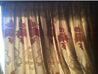 Beautiful curtains and pole,tie backs