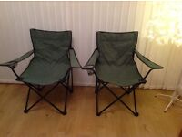 2 x camping folding chairs