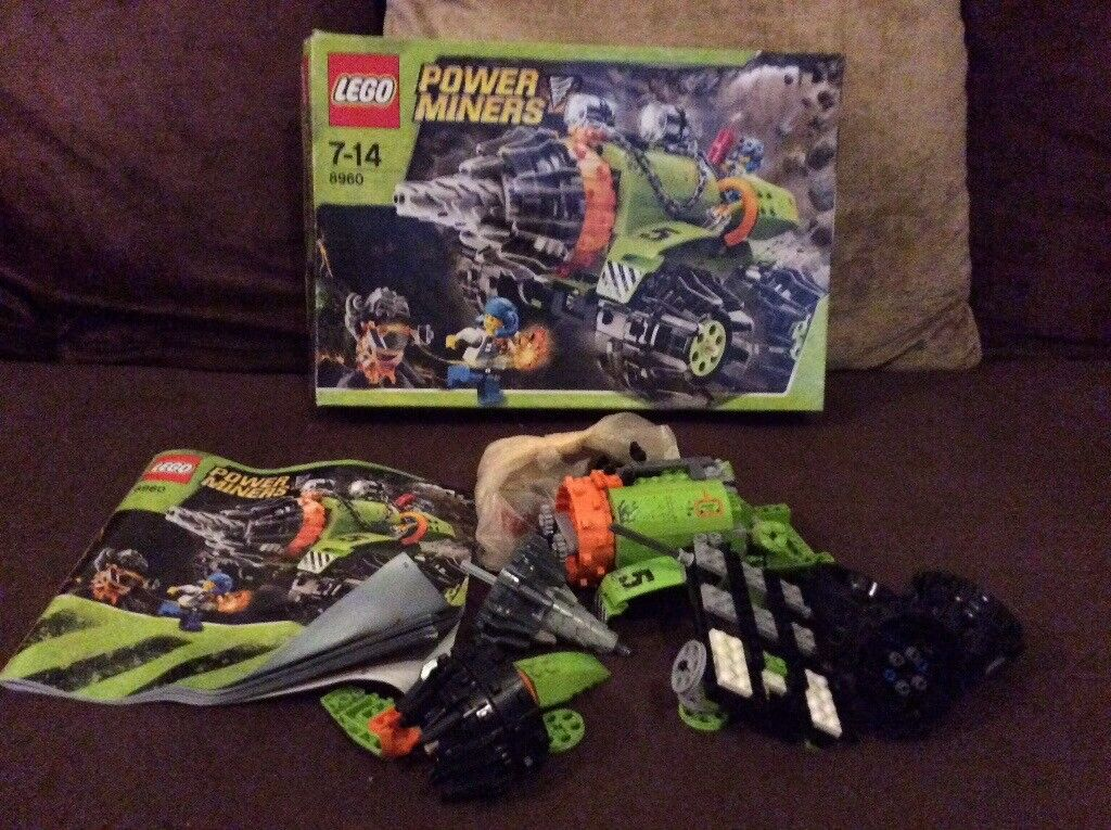 Lego Power Miners Thunder Driller 8960 Boxed And Instructions