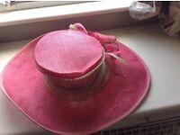 Stylish pink hat