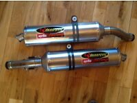 Akrapovic race cans for Aprilia RSV 1000