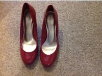 M&S Ladies Size 5 Red Shoes