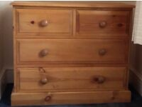 Solid pine chest of drawers (not flat packed)