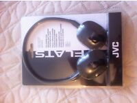 JVC HA-S160-B-E Flats Foldable Style Stereo Headphone - Black NEW