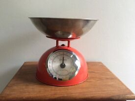 Red Kitchen Scales by Hanson.