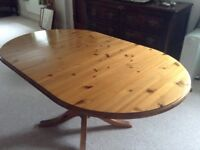 Ducal antique style pine dining table