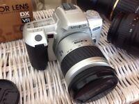 Minolta film camera with zoom lens
