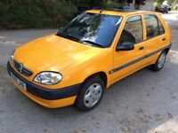 2000 CITREON SAXO FORTE 1.1 - IDEAL FIRST CAR - LOW MILEAGE- FULL M.O.T.- DRIVES SUPERB+CHEAP TO RUN