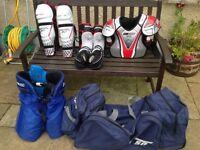 Ice Hockey Kit & Large Hockey Bag