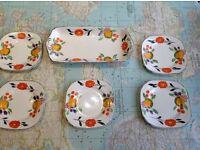 Hancock's sandwich tray and plates