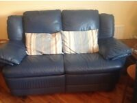2 Italian leather recliners, excellent condition, plus comfy 3-seater