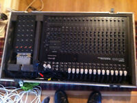 InKel mixer and KAAS flight case, with 2m, 24 channel/ 4 return loom