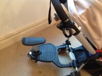 Bugaboo Bee Pram with skateboard and rain cover