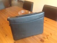 BRIEF CASE . LEATHER .BRAND NEW .BLACK LEATHER .IDEAL XMAS present