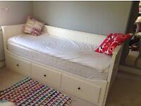 White IKEA Hemnes day bed