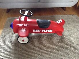 "Red Ride On Aeroplane Airplane Toy ""Red Flyer"""