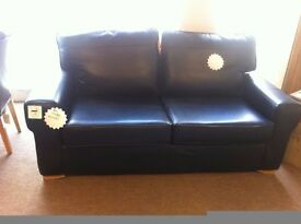 "EXCELLENT CONDITION! 3 seater ""Sahara"" pull out leather sofa bed"