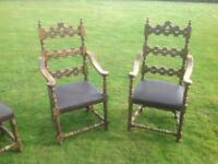 Hand carved Spanish chairs