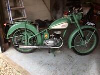 BSA bantam 125cc. 1954