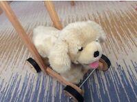 Children's push along dog walker