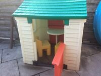 Little Tikes Play House with Phone and two chairs