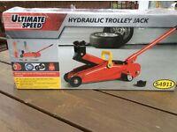 Hydraulic Trolley Jack - new in box